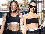 Mel C and Bling Empire's Christine Chiu wear matching sports bras as they arrive to DWTS rehearsals