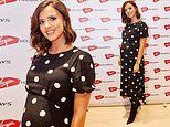 Pregnant Lucy Mecklenburgh displays her growing baby bump at Liverpool event