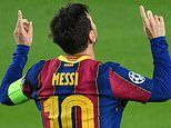 Barcelona 5-1 Ferencvaros: Lionel Messi and Ansu Fati score but Gerard Pique is sent off