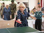 Duchess of Cornwall serves up a storm as she delights on visit to Royal Air Force Halton