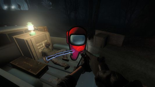 Someone has modded Among Us's Red into Left 4 Dead 2, naturally