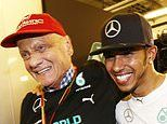 'Thank you for being a bright light in my life': Lewis Hamilton pays tribute to Niki Lauda