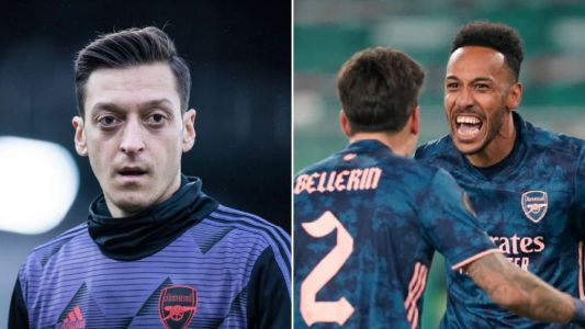 Mesut Ozil reacts to Arsenal's comeback win against Rapid Vienna and sends message to Bernd Leno after mistake