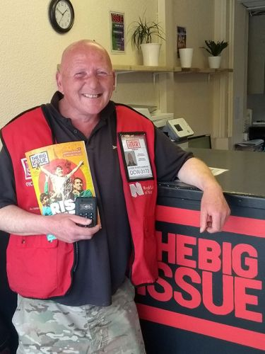 A popular Honiton Big Issue vendor is the latest to offer cashless payments