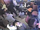 Footage shows members of rap group OneFour bashing three men with hammers and chair legs