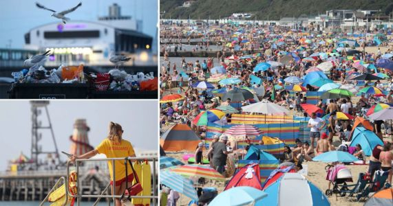 Britons camp overnight to secure beach spot on third day of heatwave