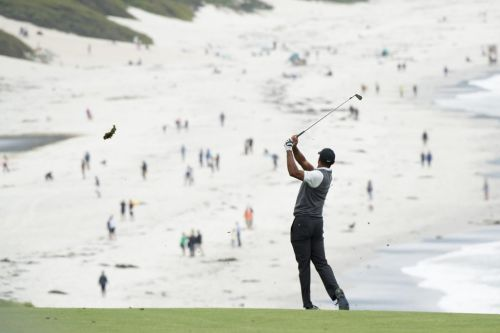Tiger Woods pleased with gutsy, scrambling round at Pebble Beach