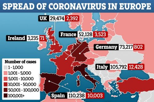 Half a million coronavirus cases confirmed in Europe as crisis-hit nations suffer their deadliest days yet