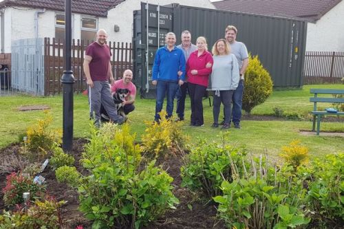 Plains community group prepare garden for visit from Beatiful Scotland judges