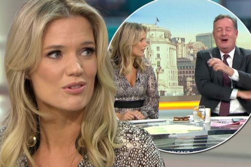 GMB's Charlotte Hawkins finally snaps at Piers Morgan as she tells him to 'zip it'