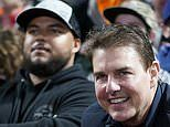 Tom Cruise seen in the stands with son Connor at LA Dodgers game in rare outing