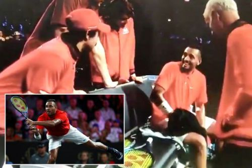 """Nick Kyrgios makes marriage offer to """"hot chick"""" in crowd at Laver Cup"""