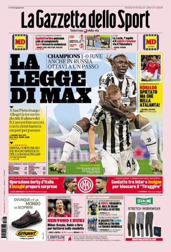 Today's Papers - Inter are back, Milan bitter