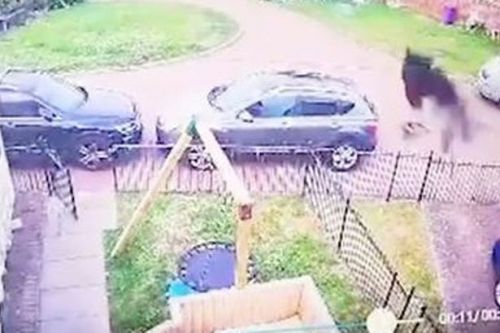 Mum calls priest to bless home after spotting 'black ghostly figure' on CCTV