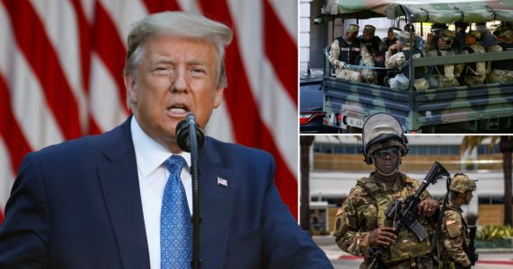 Donald Trump threatens to deploy military to end George Floyd riots and 'dominate' streets