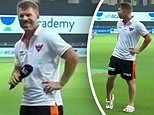 The shocking moment cricketer David Warner FARTS into a microphone