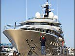 Lockdown in luxury: Billionaire Russian oil baron's superyacht worth £140m spotted moored off Dorset