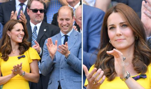 Kate dazzles as she shows off her 'push present' at Wimbledon final