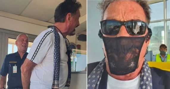 John McAfee claims he was arrested for wearing thong as face covering