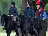The Duke of York and the Earl of Wessex take a leisurely horseback ride through Windsor