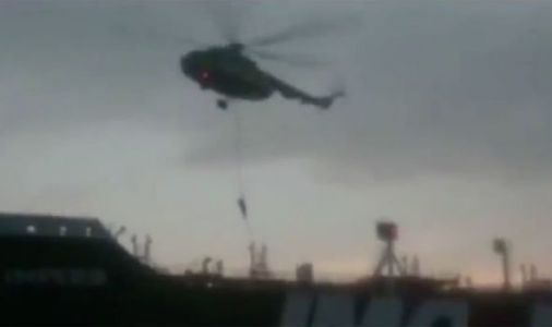 Iran releases propaganda video of Revolutionary Guard commandos hijacking UK ship