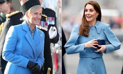 The Countess of Wessex takes style tips from Kate Middleton with chic blue coat