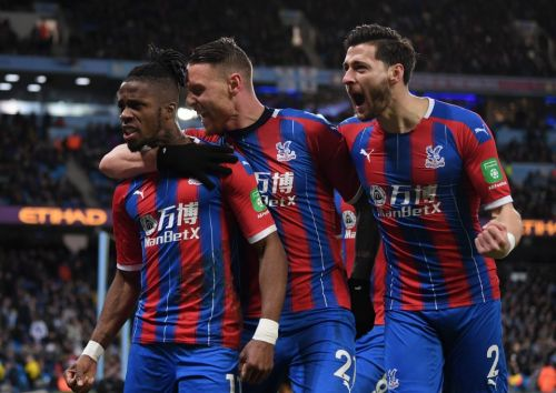 Man City 2 Crystal Palace 2: Stoppage time Fernandinho own goal denies City three points after late Aguero double