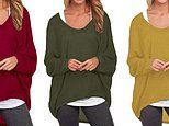 Amazon shoppers say this bestselling oversized jumper is 'comfortable and slouchy' for casual days