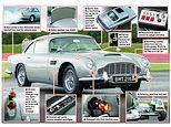 Aston Martin rolls out a £3.3million replica of the James Bond DB5 from the 1964 film Goldfinger