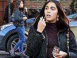 Madonna's daughter Lourdes Leon cuts a stylish figure in jeans and a T-shirt with a black jacket