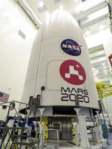 Mars rover mated with Atlas 5 launcher after teams deal with coronavirus cases