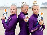 England's sharp-shooters take to the beach in France ahead of World Cup quarter-final
