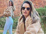 Alessandra Ambrosio shares snaps from a vacation in Zion National Park with boyfriend Richard Lee