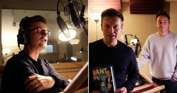 Ant and Dec reunite for first time in months to record new audio book and treat fans to funny teaser