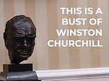 US Embassy claims it's 'just a bust of Winston Churchill' after removing statue from Oval Office