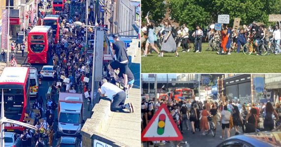 Black Lives Matter protesters take to London's streets over George Floyd killing