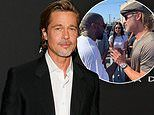 Brad Pitt says Kanye West is 'doing something really special' with Sunday Service after attending