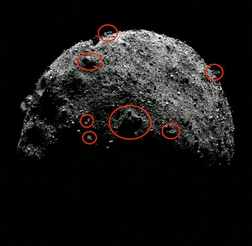 Conspiracy theorist spots 'alien buildings' on surface of the Bennu asteroid