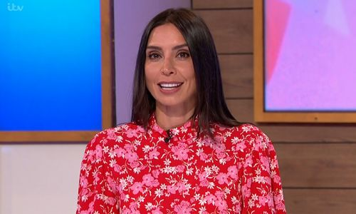 Christine Lampard teams her sleek new hairstyle with the most gorgeous Ghost dress