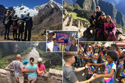Couple quit jobs, sell home, take kids out of school and travel around the world