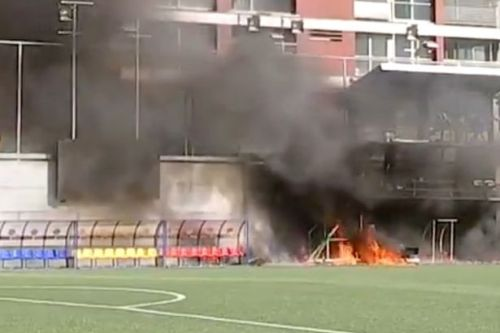 BREAKING: Fire breaks out at Andorra stadium where England play World Cup qualifier
