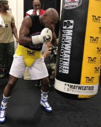Floyd Mayweather hints he's back in gym preparing for more farcical exhibition fights with £62m offers on table