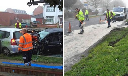 Elderly couple KILLED in HIGH SPEED police chase after car hit by 'erratically driven' van