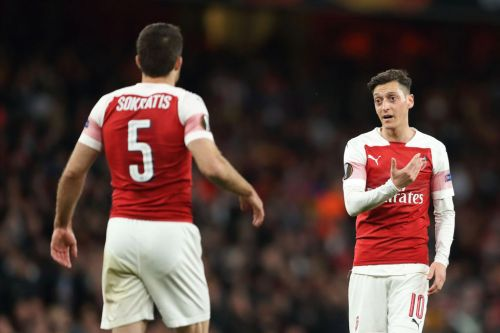 Mikel Arteta leaves Mesut Ozil and Sokratis out of Arsenal's Premier League squad