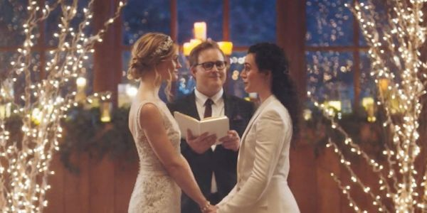 Celebrities and politicians criticized The Hallmark Channel for pulling a commercial featuring a same-sex couple