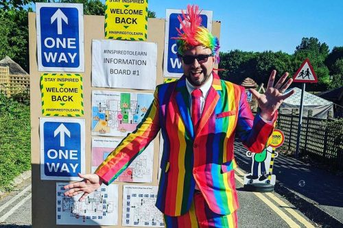 A Dorchester school's colourful welcome back