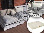 Couple make their own stylish day bed retreat using Kmart dog beds and cushions