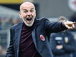 Stefano Pioli's chances of remaining AC Milan manager 'increase significantly'