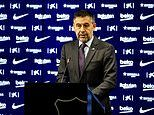 Under-fire Barcelona president Josep Bartomeu and the rest of the club's board 'RESIGN immediately'