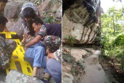 Pregnant woman and unborn baby survive being 'pushed off 110ft cliff by husband'